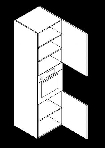 Double-door-three-shelve-built-in-oven-tall-modules-357x500