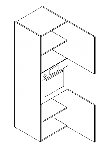 Double-door-two-shelve-built-in-oven-tall-modules-357x500