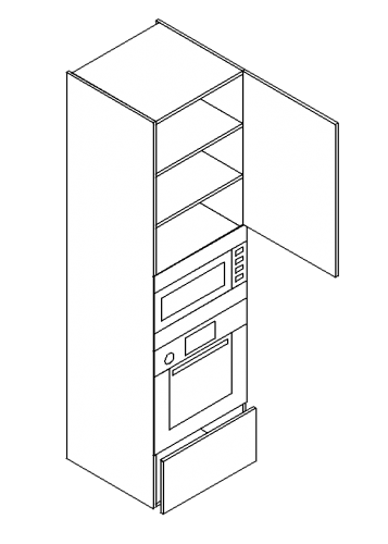 Single-drawer-door-double-shelved-built-in-oven-microwave-tall-modules-1-357x500