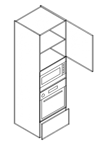 Single-drawer-door-double-shelved-built-in-oven-microwave-tall-modules-357x500