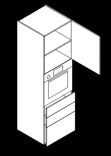 Three-drawer-single-door-shelve-built-in-oven-tall-modules-357x500